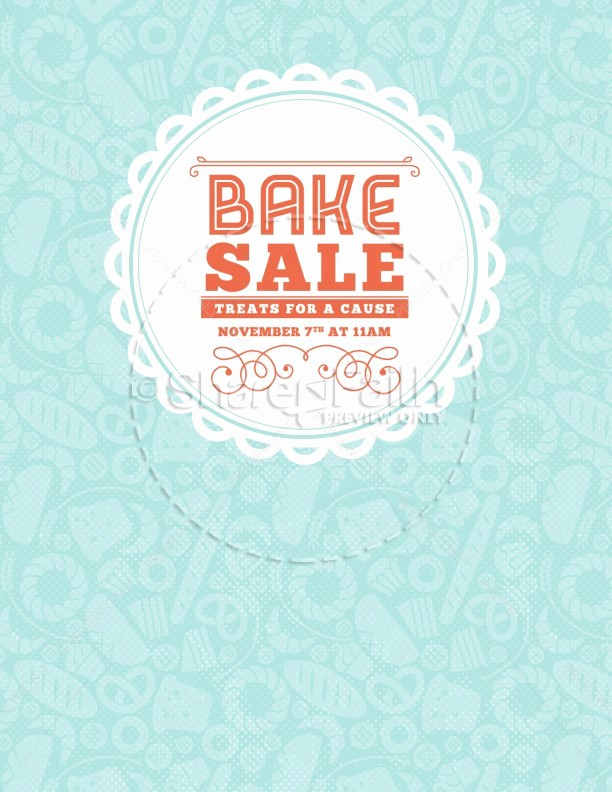 Bake Sale Flyer Template Word Unique Bake Sale Church Flyer Template