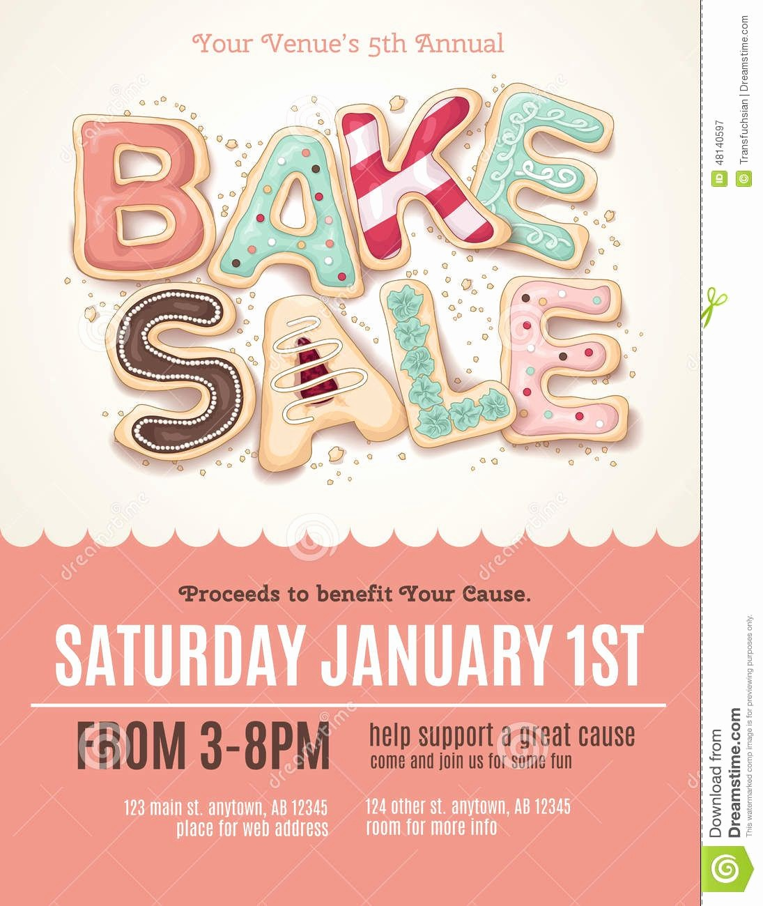 Bake Sale Flyer Template Word Unique Fun Cookie Bake Sale Flyer Template Download From Over
