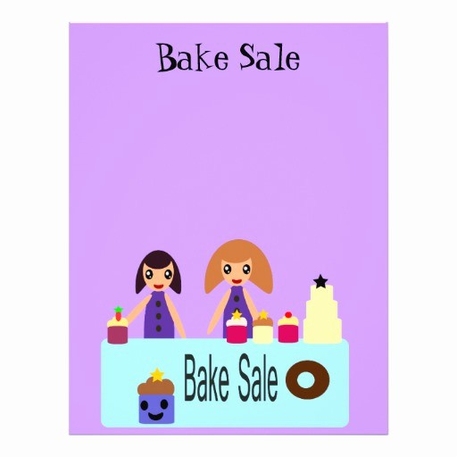 Bake Sale Template Microsoft Word Beautiful Cute Cartoon Bake Sale Flyer