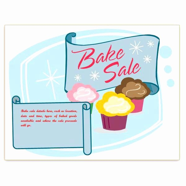 Bake Sale Template Microsoft Word Luxury Bake Sale Flyer Template