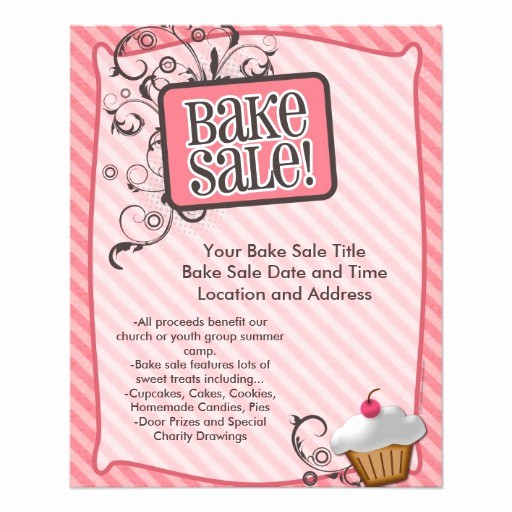 Bake Sale Template Microsoft Word Best Of Small Bake Sale Flyers Sweet Pink Swirls