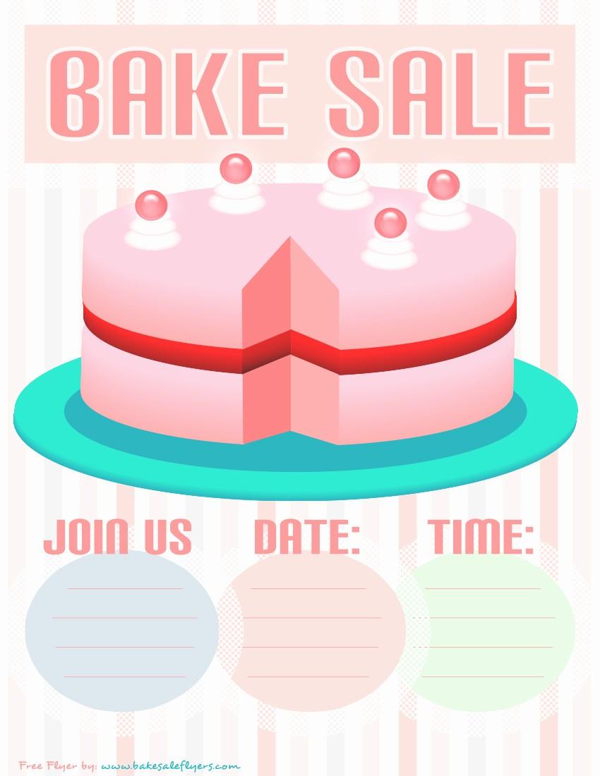 Bake Sale Template Microsoft Word Luxury Bake Sale Flyer Template Pink Cake