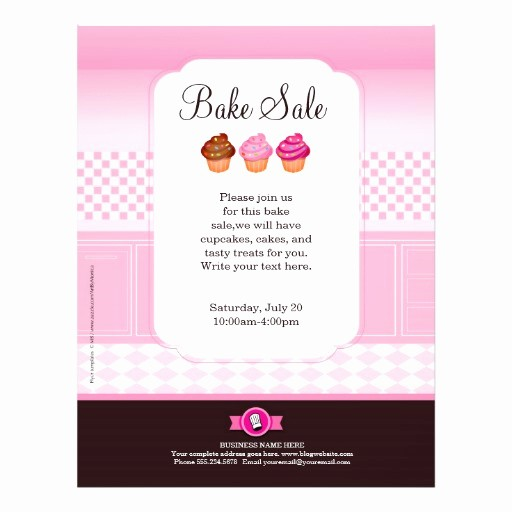 Bake Sale Template Microsoft Word Luxury Professional Bake Sale Flyer Personalized