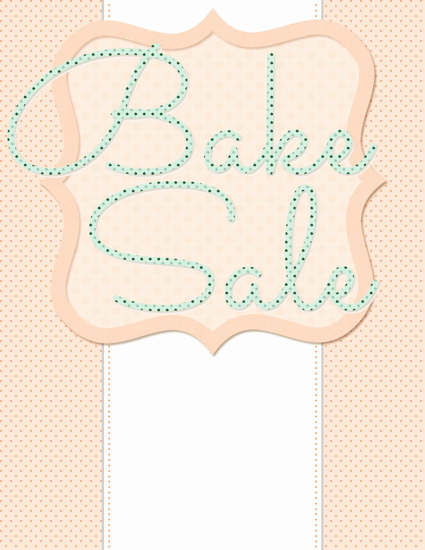 Bake Sale Template Microsoft Word New Spring Bake Sale Flyer Design