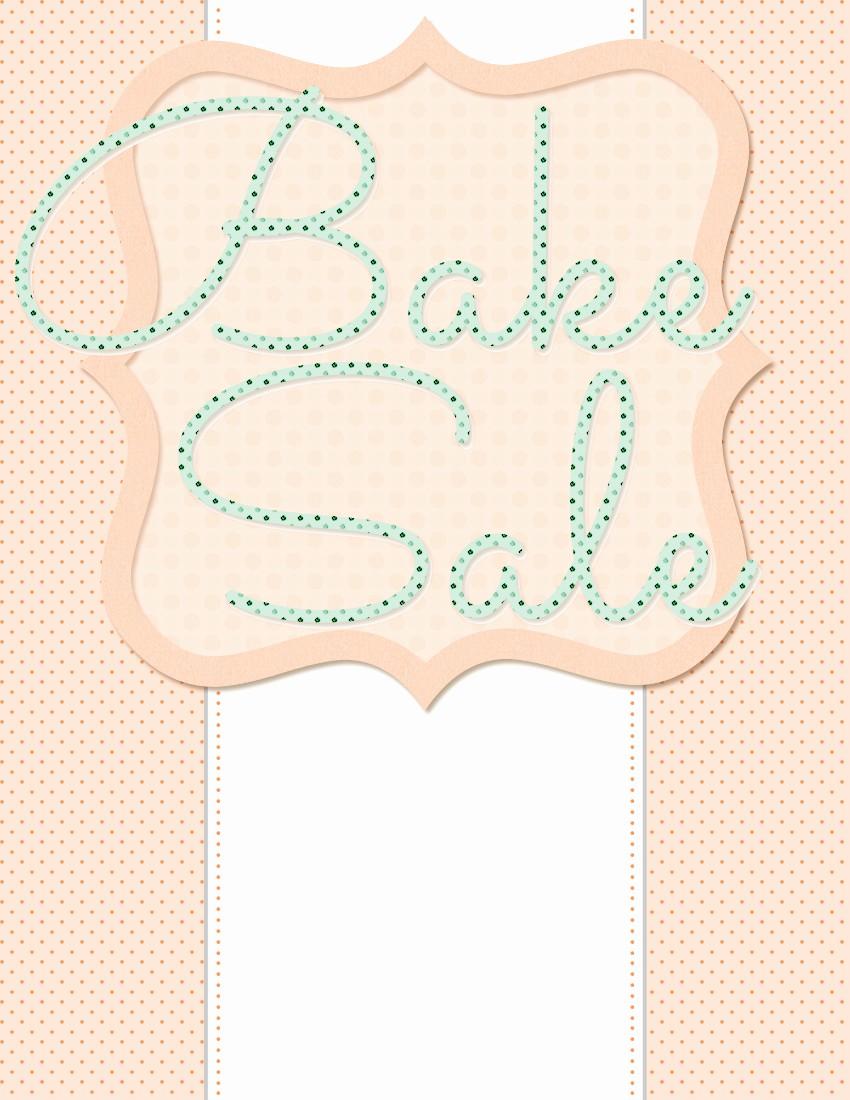 Bake Sale Template Microsoft Word New Spring Bake Sale Flyer Design