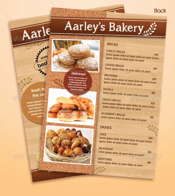 Bakery Menu Template Word Free Awesome 29 Bakery Menu Templates Psd Ai Docs