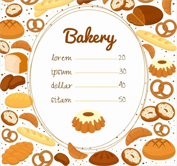 Bakery Menu Template Word Free Beautiful 30 Bakery Menu Templates Psd Pdf Eps Indesign