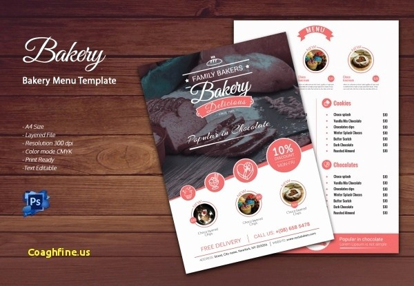 Bakery Menu Template Word Free Best Of 12 Unique Bakery Flyer Template Free Davidklinghoffer