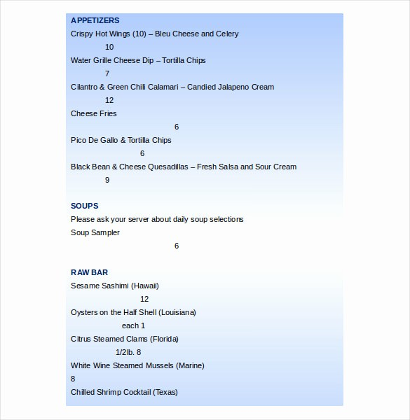 Bakery Menu Template Word Free Best Of 20 Word Menu Templates Free Download