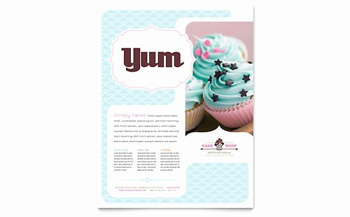 Bakery Menu Template Word Free Best Of Bakery & Cupcake Shop Menu Template Word & Publisher