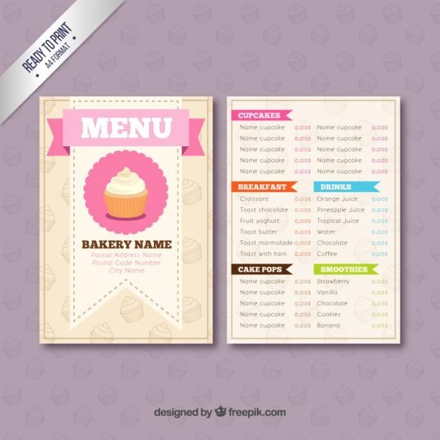 Bakery Menu Template Word Free Best Of Bakery Menu Template Vector
