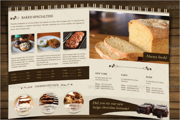 Bakery Menu Template Word Free Elegant 30 Bakery Menu Templates Free Designs Ideas Samples