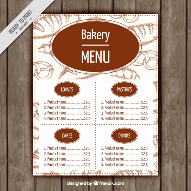 Bakery Menu Template Word Free Fresh Bakery Menu Template 13 Signs You Re In Love with Bakery