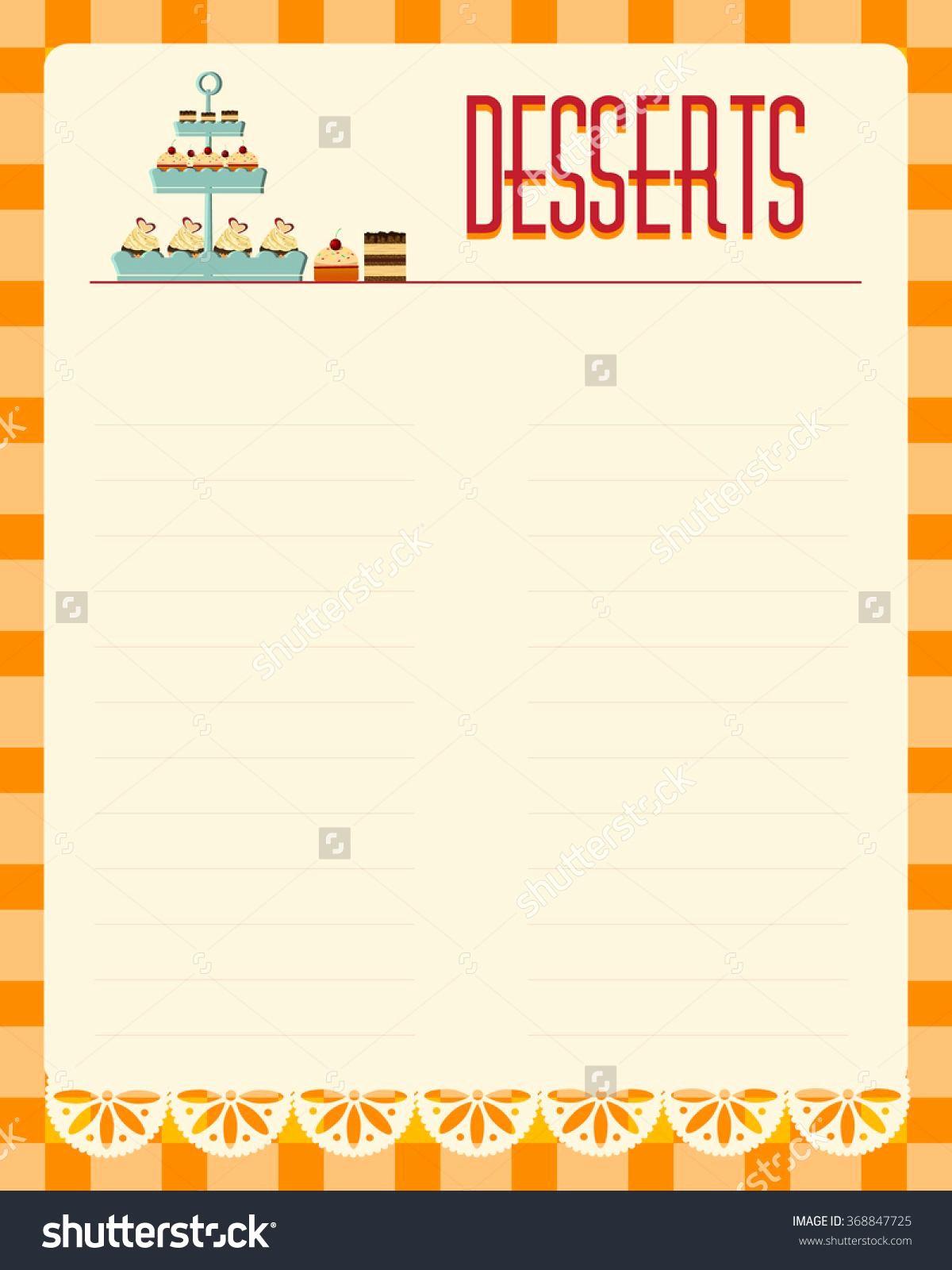 Bakery Menu Template Word Free Fresh Blank Menu Template Free Download