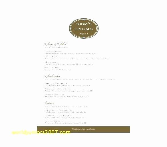 Bakery Menu Template Word Free Fresh Cafe Menu Templates Free – Puebladigital