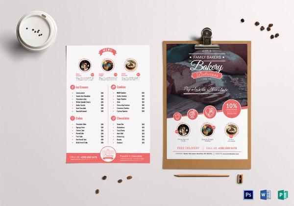 Bakery Menu Template Word Free Inspirational 29 Bakery Menu Templates Psd Ai Docs