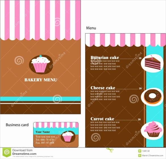 Bakery Menu Template Word Free Inspirational 30 Bakery Menu Templates Psd Pdf Eps Indesign