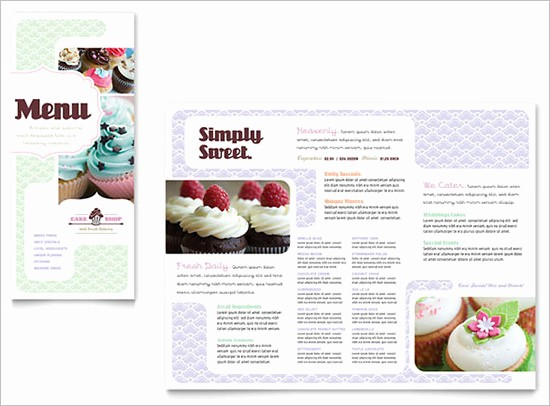 Bakery Menu Template Word Free Lovely 30 Bakery Menu Templates Psd Pdf Eps Indesign