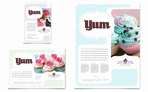 Bakery Menu Template Word Free Lovely Bakery & Cupcake Shop Flyer Word Template & Publisher
