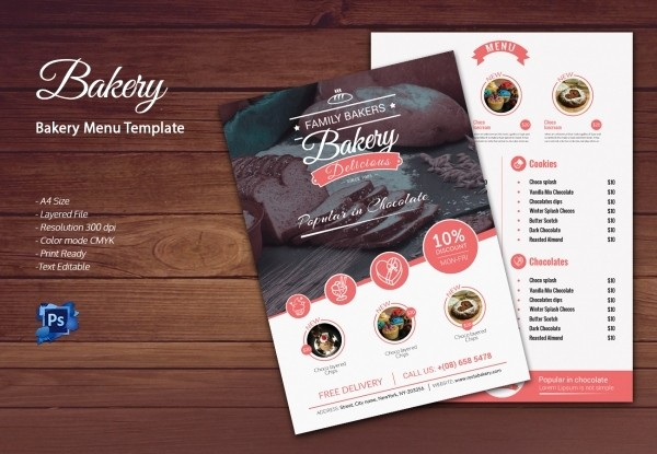 Bakery Menu Template Word Free New Bakery Menu Template – 30 Free Word Psd Pdf Eps