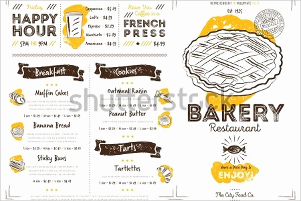 Bakery Menu Template Word Free Unique 30 Bakery Menu Templates Free Designs Ideas Samples