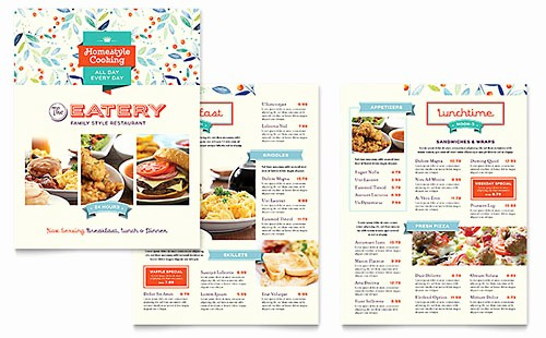 Bakery Menu Template Word Free Unique Bakery & Cupcake Shop Tri Fold Brochure Template Design