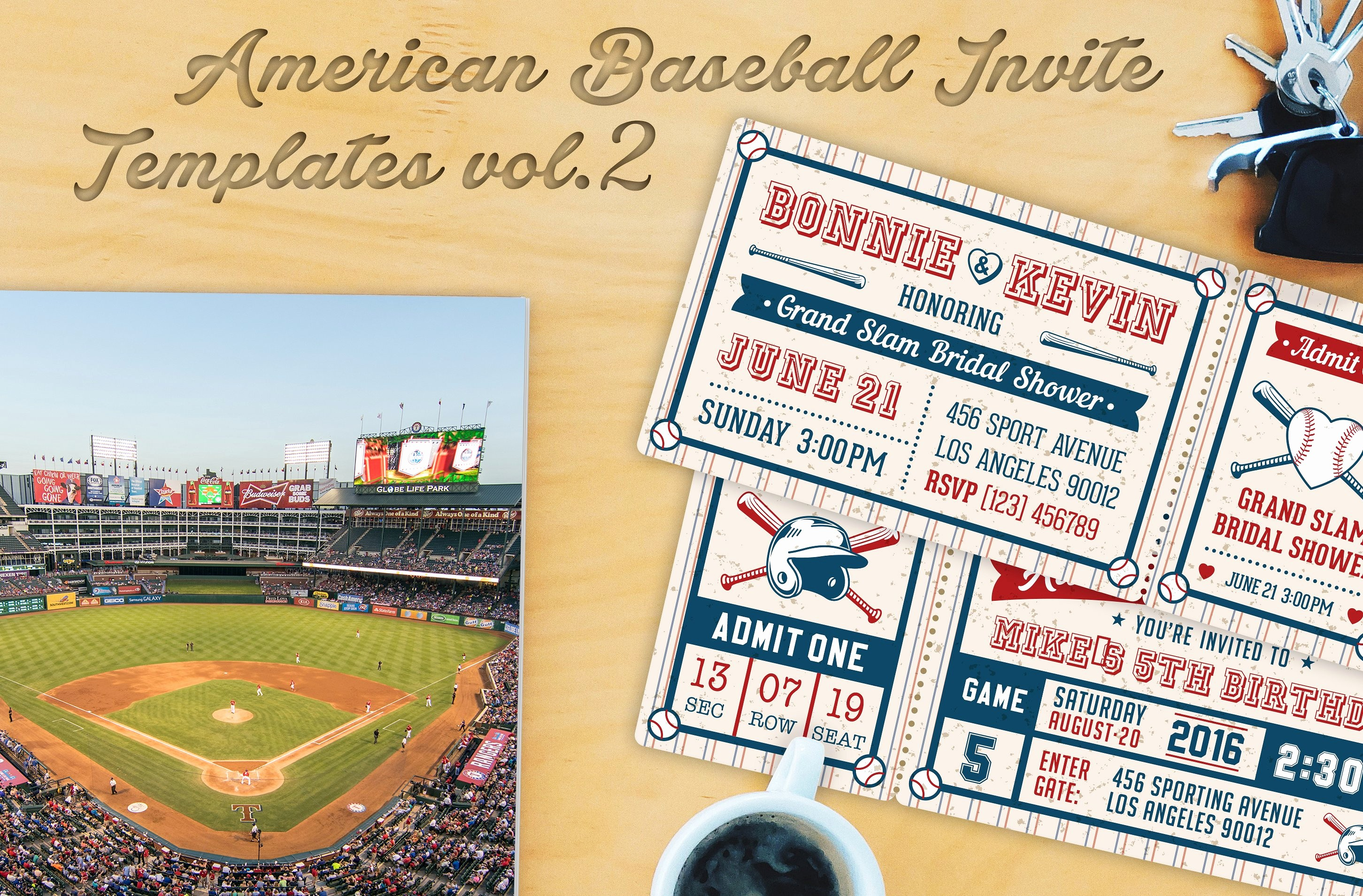 Baseball Ticket Invitation Template Free Beautiful Baseball Ticket Party Invites 1 Invitation Templates