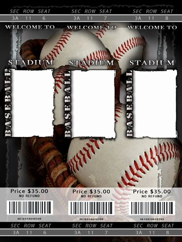 Baseball Ticket Invitation Template Free Beautiful Blank Baseball Ticket Template