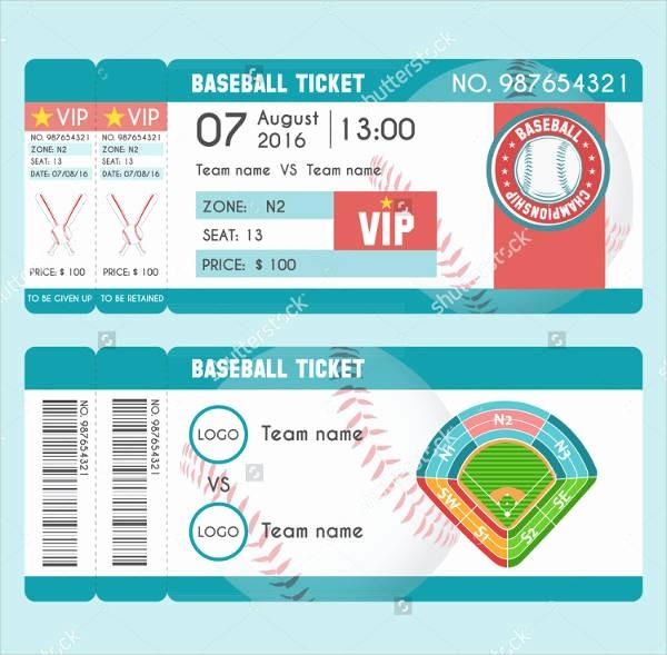 Baseball Ticket Invitation Template Free Best Of 9 Baseball Ticket Templates Free Psd Ai Vector Eps