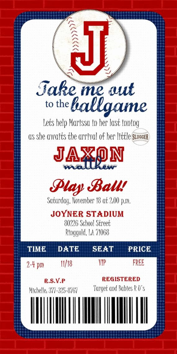 Baseball Ticket Invitation Template Free Best Of Custom Printable Baseball Ticket Invitation by Joyinvitations
