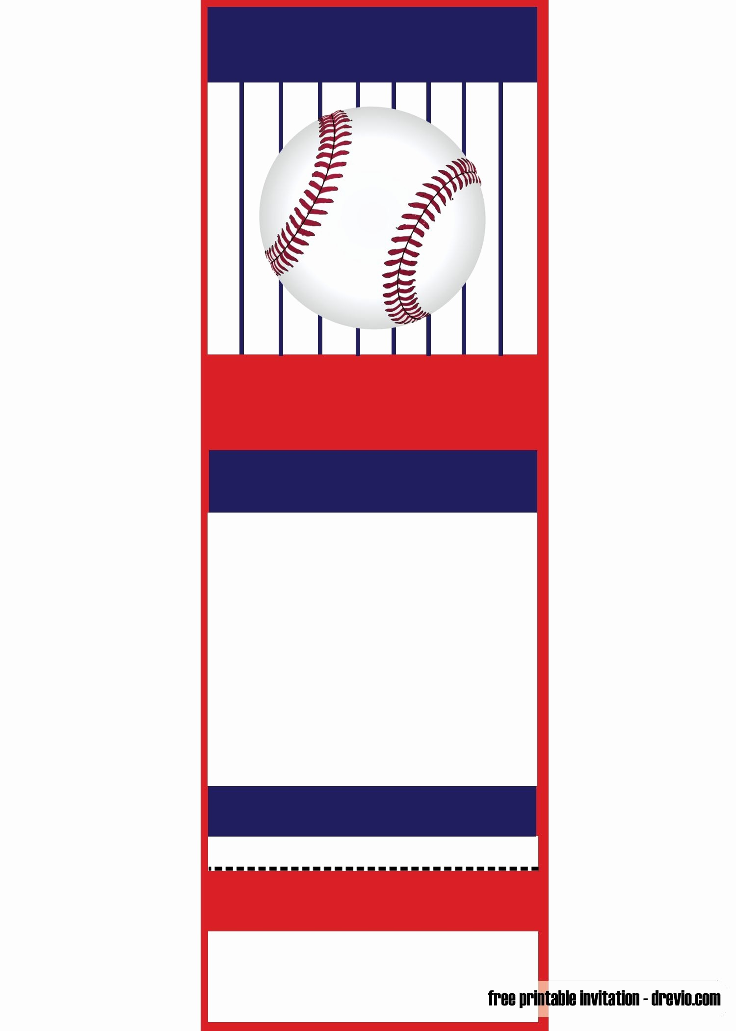 Baseball Ticket Invitation Template Free Elegant Free Printable Baseball Ticket Invitation