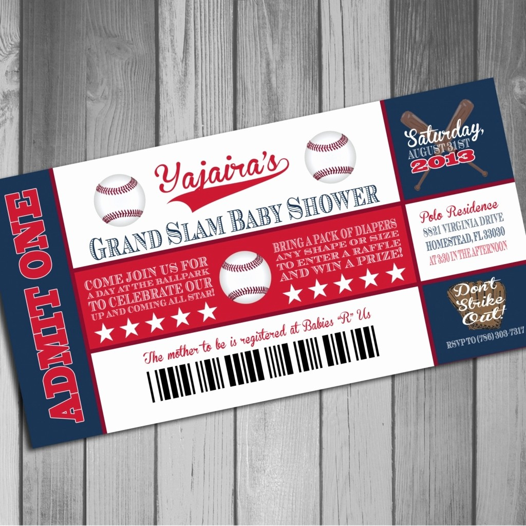 Baseball Ticket Invitation Template Free Fresh Baseball Ticket Invitation Template Free