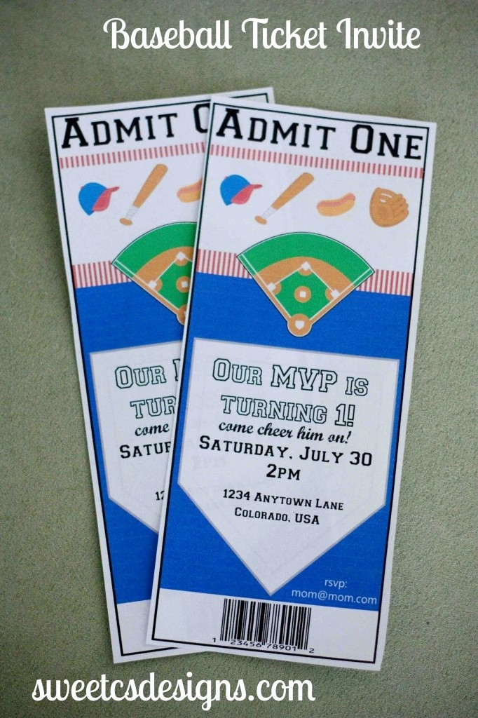 Baseball Ticket Invitation Template Free Inspirational 17 Best Images About event themes On Pinterest
