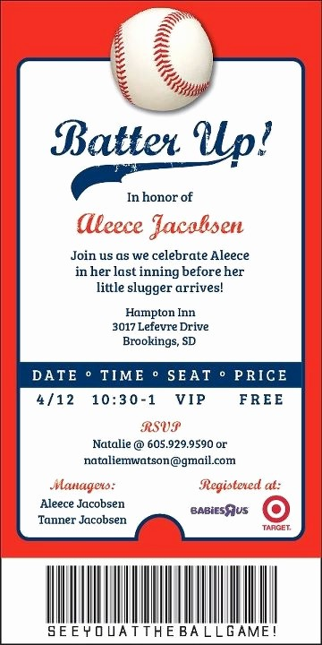 Baseball Ticket Invitation Template Free Luxury 22 Best Cjo Baseball Game Images On Pinterest