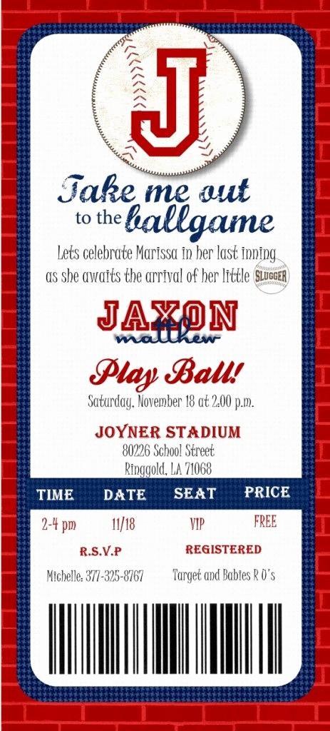 Baseball Ticket Invitation Template Free New 25 Best Ideas About Baseball Invitations On Pinterest