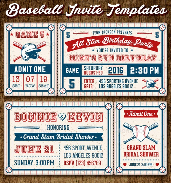 Baseball Ticket Invitation Template Free Unique 61 Ticket Invitation Templates Psd Vector Eps Ai