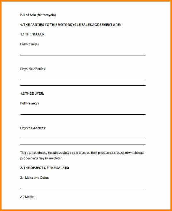 Basic Auto Bill Of Sale Elegant 8 Free Printable Bill Of Sales