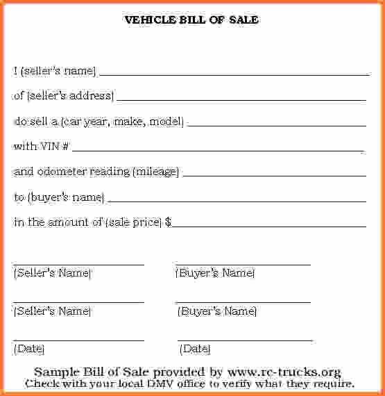 Basic Auto Bill Of Sale Inspirational 15 Simple Bill Of Sale for Vehicle