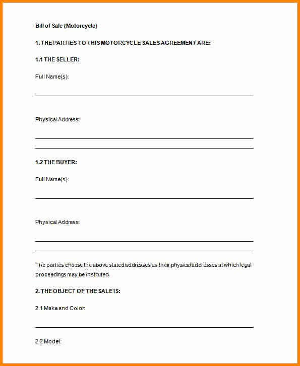 Basic Automobile Bill Of Sale Elegant 8 Free Printable Bill Of Sales