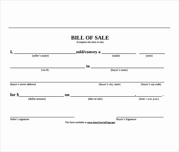 Basic Bill Of Sale Template Best Of Sample Car Bill Of Sale Template 6 Free Documents In