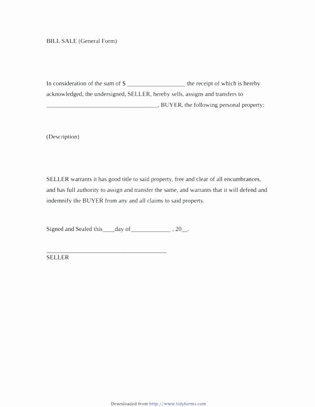 Basic Bill Of Sale Template Elegant Bill Sale form Luxury for Property Template Elegant