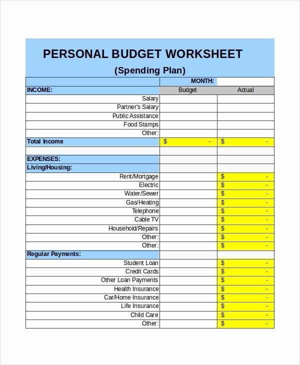 Basic Budget Worksheet College Student Elegant 21 Excel Monthly Bud Templates