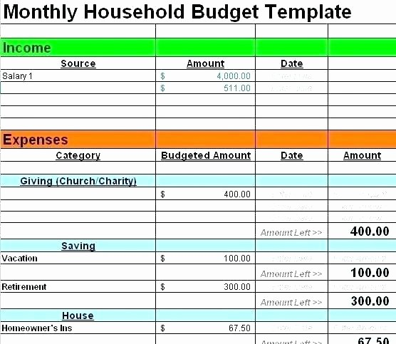 Basic Budget Worksheet College Student Unique Excel Home Bud Template Template Design Ideas