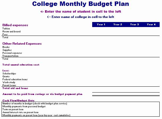Basic Budget Worksheet College Student Unique Monthly Bud Worksheet for High School Students Excel