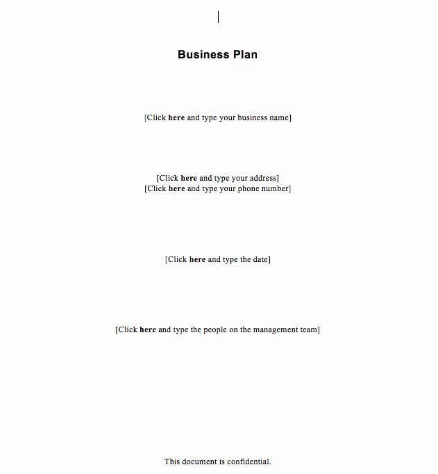 Basic Business Plan Template Free Beautiful Free Simple Business Plan Template