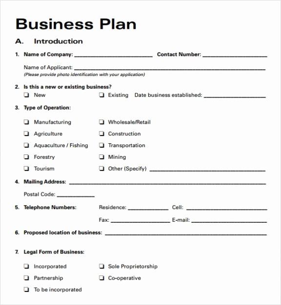 Basic Business Plan Template Free Beautiful Simple Basic Startup & Small Business Plan Template Pdf