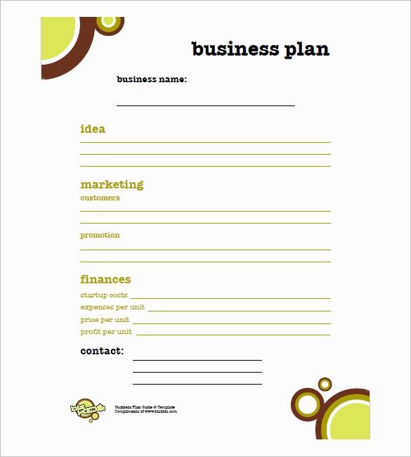 Basic Business Plan Template Free Beautiful Simple Business Plan Template – 14 Free Word Excel Pdf