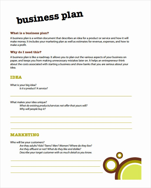 Basic Business Plan Template Free Elegant 21 Simple Business Plan Templates