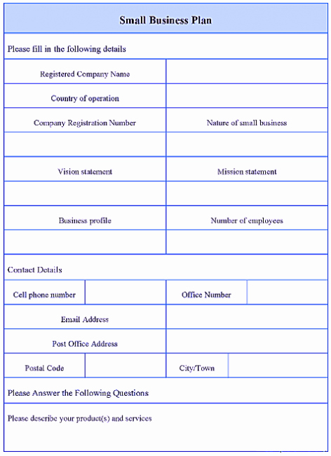 Basic Business Plan Template Free Fresh Simple Basic Startup & Small Business Plan Template Pdf