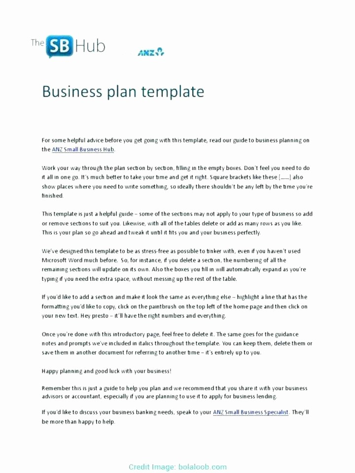 Basic Business Plan Template Free Luxury Free Business Plan Template Australia Farm Business Plan
